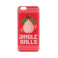 FLAVR Kerst Case Ugly Xmas Sweater jingle balls iPhone 6 6s - Rood