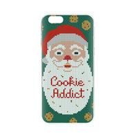 FLAVR Kerst Cardcase Ugly Xmas Sweater koekjes cookie addict iPhone 6 6s - Groen