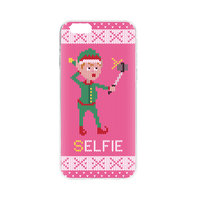 FLAVR Kerst Cardcase Ugly Xmas kersttrui selfie elfje iPhone 6 6s - Roze