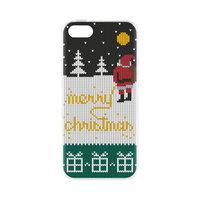 FLAVR Case Ugly Xmas Sweater Yellow Snow kerstman kersttrui iPhone 5 5s SE 2016 - Kerst