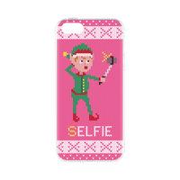 FLAVR Kerst Case Ugly Xmas sweater kerst trui elfjes selfie iPhone 5 5s SE 2016 - Roze