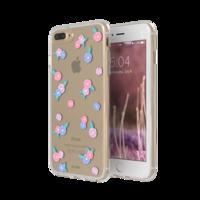 FLAVR iPlate bloemen transparant roze blauw iPhone 6 Plus 6s Plus 7 Plus 8 Plus - Transparant
