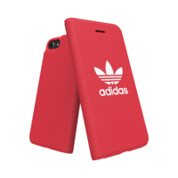 adidas walletcase hoesje flap iPhone 6 6s 7 8 - Rood