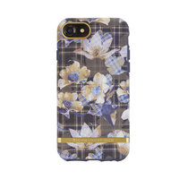 Richmond & Finch Floral Checked bloemen retro goud iPhone 6 6s 7 8 - Goud