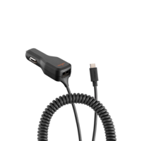 Ventev dashport oplader oplaadblok micro usb kabel - Zwart
