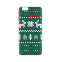 FLAVR Xmas Kerst kersttrui hoesje rendier iPhone 6 6s - Groen