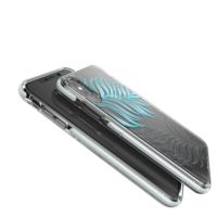 Gear4 Victoria doorzichtig hoesje blad jungle blauw iPhone XS Max - Blauw Transparant