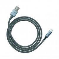 Ventev Charge & Sync Kabel USB-A naar USB-C 1.2 m - Gevlochten Zwart