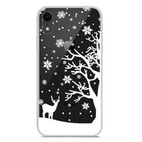 Kerst flexibel sneeuw hoesje winter case christmas iPhone XR - Transparant