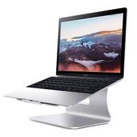 Bestand Ergonomische Aluminium Laptop Macbook houder standaard stand - Zilver