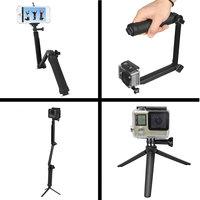 Vouwbare Grip 3-in-1 Selfie Stick Tripod Camerahouder Monopod Steadycam - GoPro DLSR