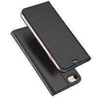 Dux Ducis Cover booklet case hoesje met flap leren hoes iPhone 7 8 - Zwart
