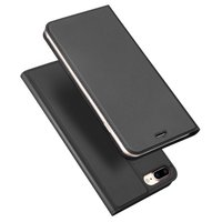 Dux Ducis Cover booklet case hoesje met flap leren hoes iPhone 7 Plus 8 Plus - Zwart