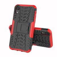 Hybride standaard case shockproof hoesje iPhone X XS - Rood