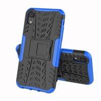 Hybride standaard case shockproof hoesje iPhone X XS - Blauw