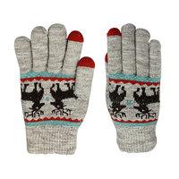 Handschoenen Touch Tip Gloves Herten comfortabel gebreid - Grijs