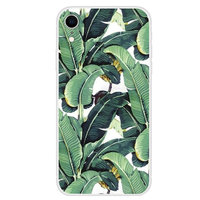 Bananen Bladeren hoesje iPhone XR Case - Groen cover