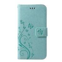 Vlinder Wallet Kunstleer hoesje iPhone XR TPU Case - Cyaan