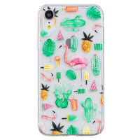 Cactus en Flamingo TPU hoesje iPhone XR cover
