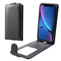 Kaarthouder hoesje iPhone XR Kunstleer case - Zwart