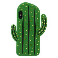 Cactus Silicone Hoesje iPhone XS Max cover - Groen case