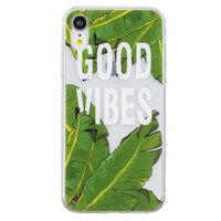Bananen Bladeren iPhone XR TPU hoesje - Doorzichtig Groen