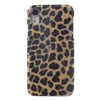 Luipaard Panter Print iPhone XR hardcase hoesje Kunstleer - Bruin Luipaard Panter textuur
