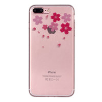 Bloem TPU Hoesje iPhone 7 Plus 8 Plus cover - Doorzichtig