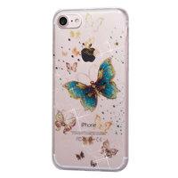 Glitter Poeder hoesje TPU iPhone 8 7 - Vlinders