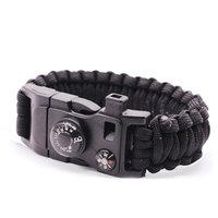 Survivor armband 9 functies - Zwart Kamperen Rescue