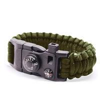 Survivor armband 9 Functies - Leger Groen Kamperen Rescue
