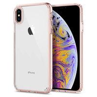 Spigen Ultra Hybrid hoesje bumper iPhone XS Max roze transparant case