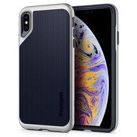 Spigen Neo Hybrid hoesje iPhone XS Max zilver case