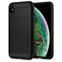 Spigen Slim Armor CS bescherming hoesje iPhone XS Max zwart case
