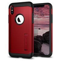 Spigen Slim Armor hoesje iPhone XS Max rood case