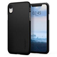 Spigen Thin Fit case bescherming iPhone XR - Zwart hoesje