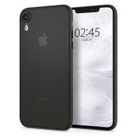 Spigen Air Skin case iPhone XR doorzichtig hoesje - Zwart transparant