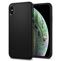 Spigen Liquid Air case iPhone XS hoesje - Mat zwart