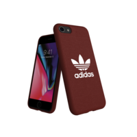 adidas Originals Moulded Case canvas FW18 Case iPhone 6 6s 7 8 hoesje rood donker