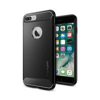 Spigen Rugged Armor case iPhone 7 Plus 8 Plus hoesje - Zwart