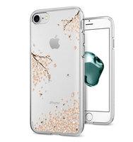 Spigen Liquid Crystal Blossom doorzichtig case iPhone 7 8 SE 2020 hoesje - Transparant