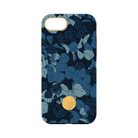 FLAVR Studio Navy Leaves iPhone 6 6s 7 8 hardcase hoesje - Kleurrijk