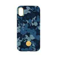 FLAVR Studio Navy Leaves iPhone XS Max hardcase hoesje - Blauw Bladeren