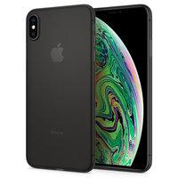 Spigen Air Skin hoesje bescherming iPhone XS Max - Zwart case dun