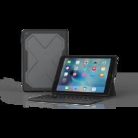 ZAGG Rugged Messenger AZERTY toetsenbord en case voor de iPad 9.7 2017 2018 - Zwart