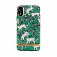 Richmond & Finch Groen Luipaard Case iPhone XR hoesje - Green Leopard