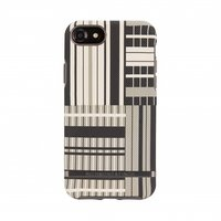 Richmond & Finch Platinum Strepen hoesje iPhone 6 6s 7 8 - Zwart case - Platinum Stripes