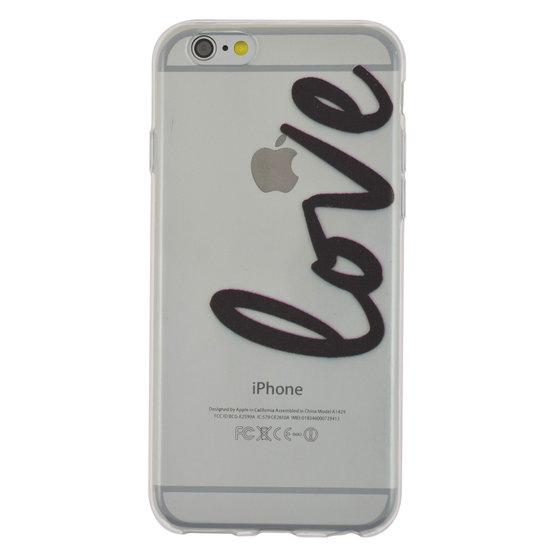 TPU doorzichtig hoesje iPhone 6 6s love cover