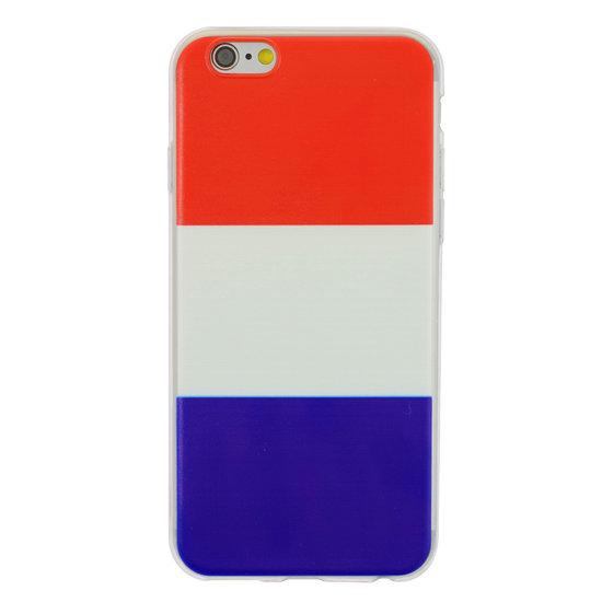 Nederlandse vlag rood wit blauw TPU iPhone 6 6s hoesje case