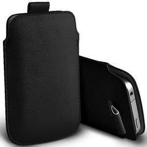 Zwart Leder Insteekhoesje iPhone & iPod Touch Pouch